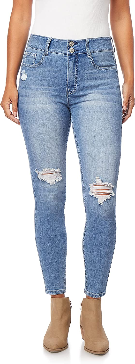 Angels Forever Young Women's Super High Rise Curvy Skinny Jeans