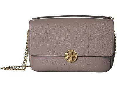 Tory Burch Chelsea Chain Shoulder Bag (Gray Heron) Handbags
