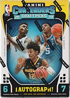 2019/20 Panini Contenders Draft Picks Basketball BLASTER box (42 cards, ONE Autograph card/bx)