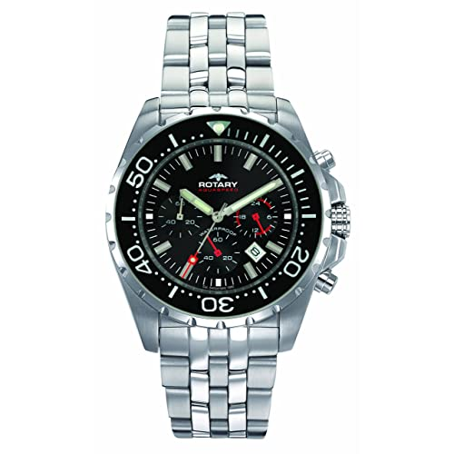 1a10f286060 Rotary Mens Chronograph Quartz Watch with Stainless Steel Strap  AGB00013 C 04S