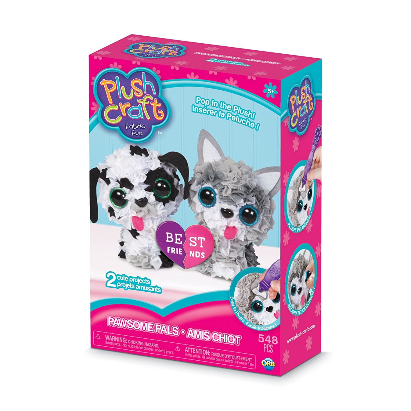 THE ORB FACTORY LIMITED 10027967 Plush Craft 3D Paw Some Pals Set, 10
