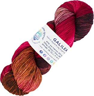 Living Dreams Yarn GALILEA. Colorful SuperWash Merino Sock Yarn. Super Soft and Strong. Hand Dyed to Perfection: Pluto