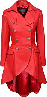 LADIES ROCK STAR Green Washed Vintage Gothic Style CLASSIC Leather COAT Jacket