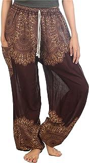 LOFBAZ Harem Pants for Women Yoga Boho Hippie Clothing Palazzo Bohemian Beach Maternity Pajama Indian Travel Gypsy Clothes...