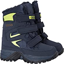 Mountain Warehouse Botas de Nieve Impermeables Chill Junior: Transpirables, Parte Superior de Malla, Conexiones de Bucle de Gancho - Ideal para el Invierno
