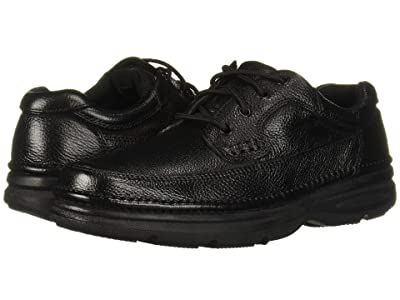 Nunn Bush Cameron Comfort Walking Oxford (Black Tumbled Leather) Men