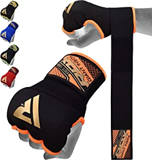 RDX Boxing Hand Wraps Inner Gloves for Punching - Elasticated Padded Bandages Under Mitts - Quick Long Wrist Support, Fist...