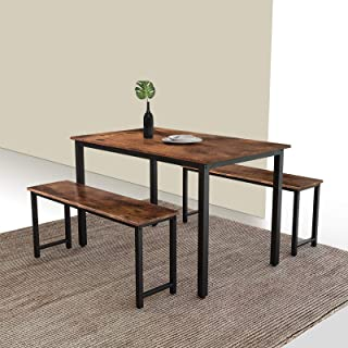 MIERES 3-Piece Dining 2 Modern Kitchen Metal Frame and...