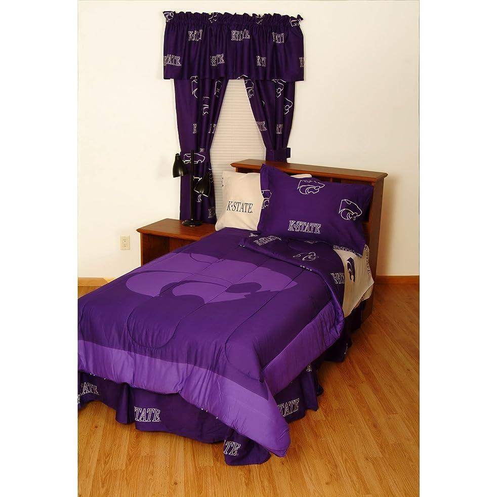 フレームワーク上がる豚Kansas State Bed in a Bag withチームカラーのシート フル パープル KSUBBFL