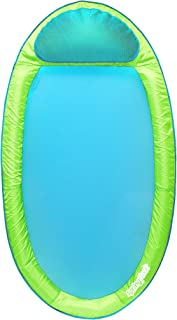 SwimWays Original Spring Float - Floating Swim Hammock for Pool or Lake - Lime/Light Blue