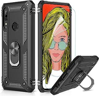 LeYi Fodral för Huawei P Smart Z med ringhållare stativ, helkroppsskyddande silikon TPU gel personlig stötsäker tuff rustn...