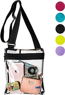 Clear Messenger Bag, Adjustable See-Thru Stadium Approved Transparent Purse