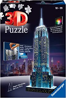 Ravensburger - Puzzle 3D - Building - Empire State Building illuminé - 12566