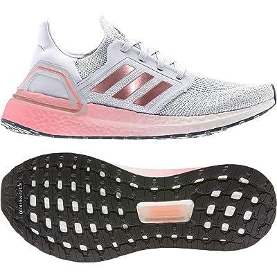 adidas Running Ultraboost 20 (Crystal White/Copper Metallic/Light Flash Red) Women