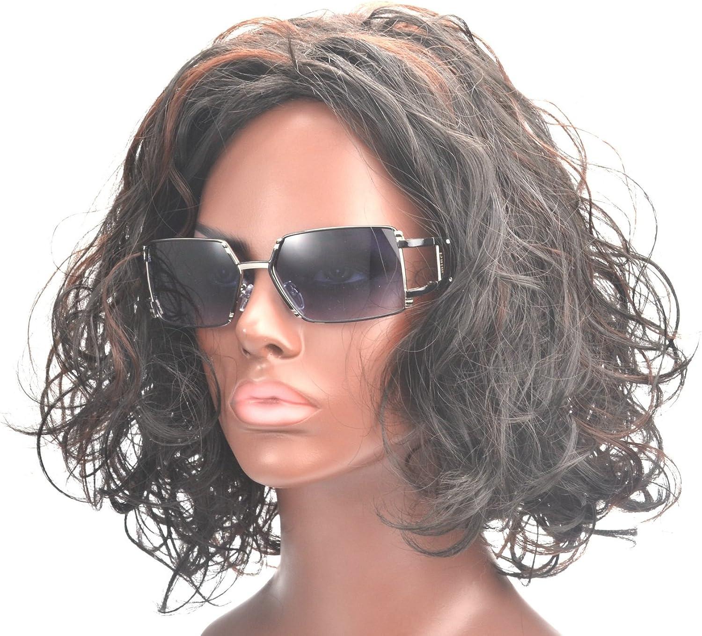 MINCL Design Lady Artificial Diamond sunglasses Square Sunglasses+case