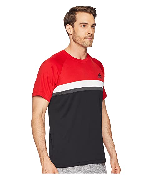 Sast Sale Online adidas Club Colorblock Tee Scarlet Top Quality Sale Online Buy Cheap Pick A Best SIgmq