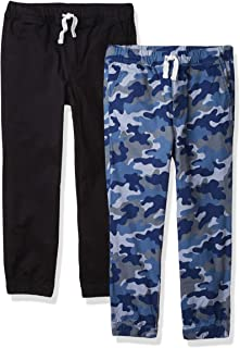 Amazon Essentials 2-Pack Boys Woven Pull On Jogger Pant - Pants Niños