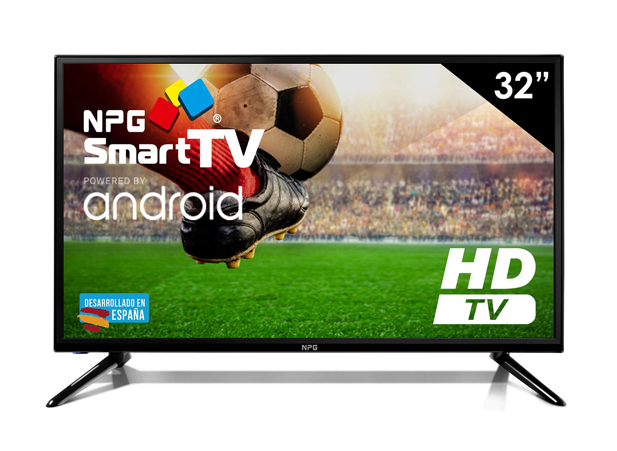Televisor LED NPG Smart TV Android TDT2 H.265 WiFi Bluetooth USB Grabador (32