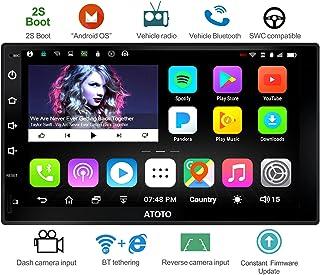 [Nuevo] A6 Doble DIN Android Navegación del Coche Estéreo con Doble Bluetooth - Estándar A6Y2710S Radio del Coche 1G / 16G, conexión a Internet WiFi/BT, Soporte 256G SD y más