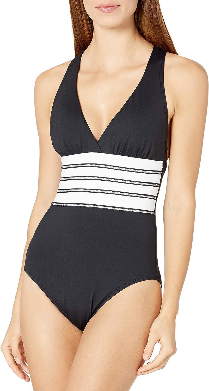 La Blanca Women's Multi Max 69% OFF Strap Cross Long Beach Mall One Piece Back Swimsuit