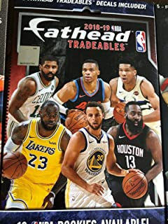 2018-2019 NBA FATHEAD Tradeables Pack - Brand New, Sealed, Unopened Pack - Includes 5 Officially Licensed NBA Player Vinyl...