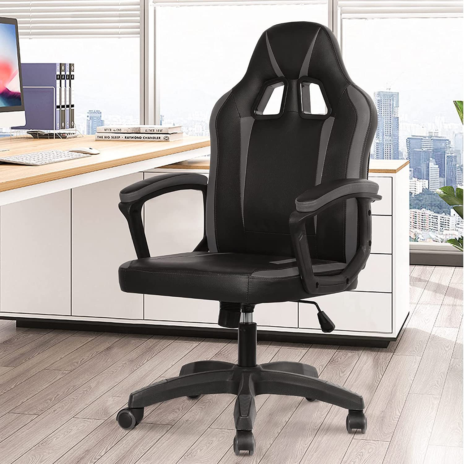 Adjustable Ergonomic Super sale Computer Gaming Recommended Chair PU Swivel Leather Ex
