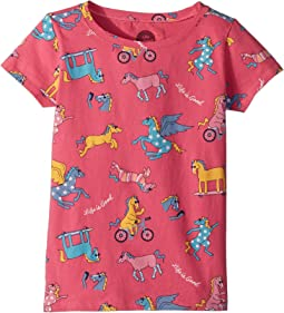 Happy Horse Print Crusher Tee (Little Kids/Big Kids)