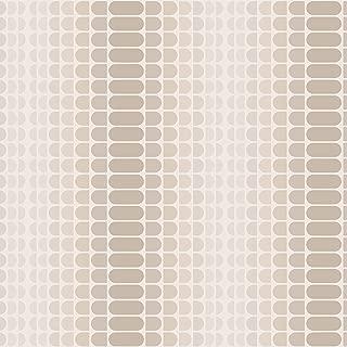 Tempaper Greige Geometric Gradient   Designer Removable Peel and Stick Wallpaper