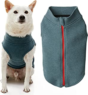 Gooby Zip Up Microfiber Fleece Dog Sweater - Turquoise, Small - Warm Double Layered Microfiber Fleece Step-in Dog Jacket -...