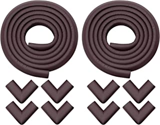 Store2508 Child Safety Strip Cushion & Corner Guards with Strong Fibreglass Tape for Baby Safety Child Proofing (Brown)