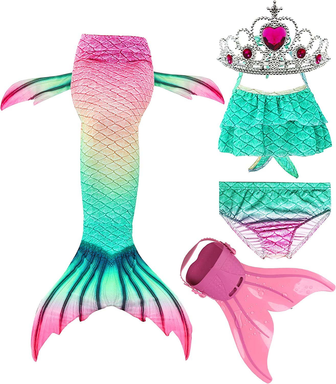 Limited Special Price Feeyakie Swimmable Mermaid Tails Max 80% OFF for Swims with Swimming Monofin