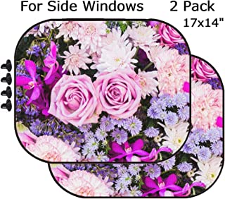 MSD Car Sun Shade - Side Window Sunshade Universal Fit 2 Pack - Block Sun Glare, UV and Heat for Baby and Pet - Image ID: 37687449 Colorful Nature Flower Backgrounds