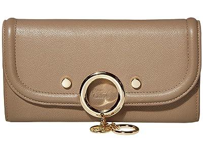 See by Chloe Mara Long Wallet with Flap (Motty Grey) Handbags
