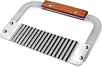 New Star Foodservice 38361 Wood Handle Serrator, 7.5-Inch, Silver