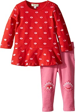 Kenzo Kids - Red and Pink Eye Ensemble (Infant)