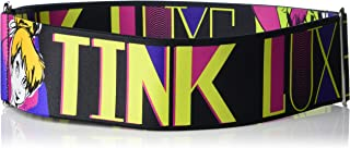 Buckle-Down Women's Cinch Belt Tink Luxe Sketch Black Neon 23 to 42 Inch, Multicolor