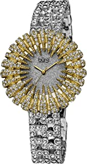 Burgi Women's Crystal Encrusted Bracelet Watch - BUR054