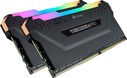 Corsair Vengeance RGB PRO 32Go (2 x 16Go) DDR4 3600MHz C18, Kit de Mémoire Haute Performance (AMD Optimisé) - Noir