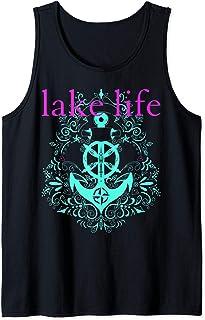 Lake Life Boat Anchor Cute Southern Mint Camping Attitude Tank Top