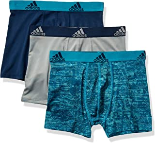 adidas Youth Kids-Boy's Performance Boxer Briefs Underwear (3-Pack)