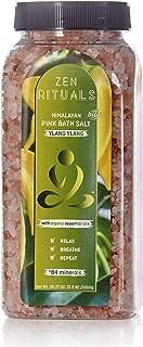 Zen Rituals Pink Himalayan Bath Salt With Organic Essential Oil Ylang Ylang, 2.2 lbs.