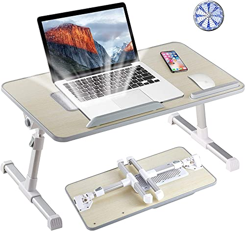 Tormeti Adjustable Laptop Stand Portable Laptop Table with Foldable Legs Notebook Computer Desk for Laptop Reading an...