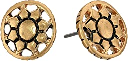The Sak - Engraved Open Stud Earrings