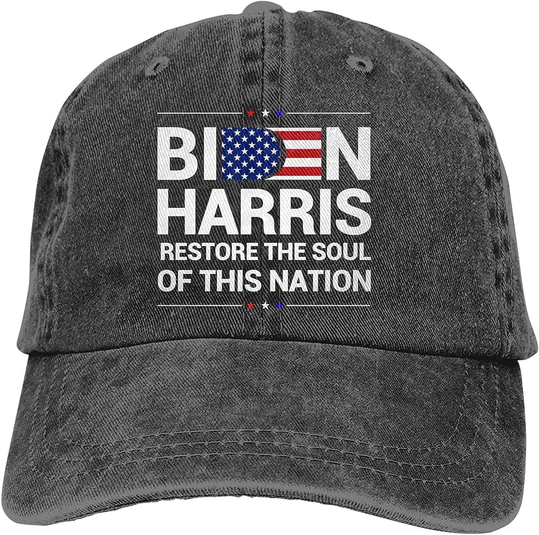 Biden 2021 Restore The Soul of This Nation Baseball Cap Trucker Hat Retro Cowboy Dad Hat Classic Adjustable Sports Cap for Men&Women Black