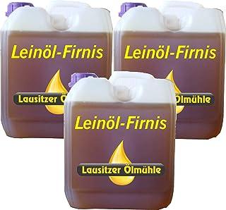 Hoyo Technology GmbH 30 Liter Leinöl Firnis Lausitzer Leinölfirnis für Holzschutz doppelt gekocht und harzfrei