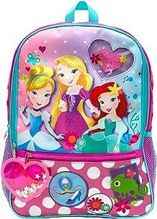 Disney Girls' Princess Backpack with Dangle