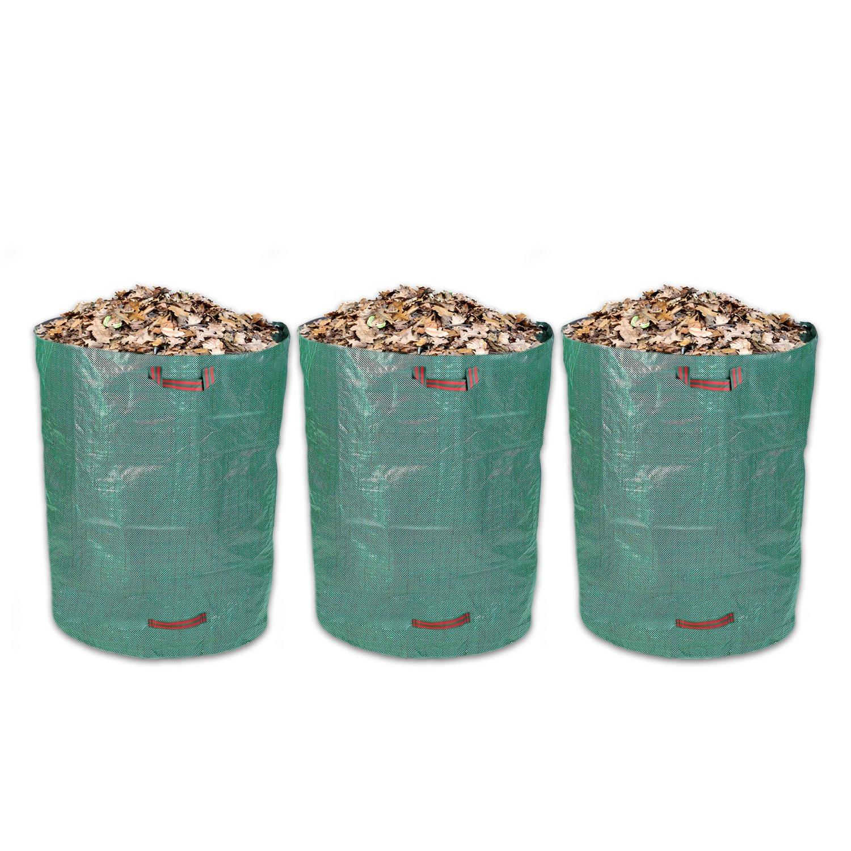 Schramm® 3 pcs. Bolsas de jardín 120L Verde Tejido de Polipropileno Robusto PP Bolsas de jardín Sacos de jardín Sacos de jardín Big Bag 120 litros Volumen 3 Pack: Amazon.es: Jardín