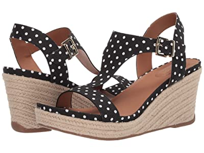 Kenneth Cole Reaction Card Wedge (White/Black) Women