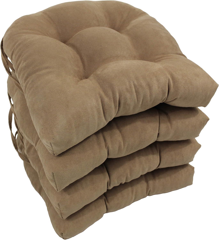 "Natural New Blazing Needle 4 Set 16/"" Twill U-shaped Tufted Chair Cushions"