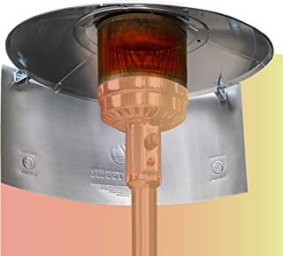 """SWEET HEAT MAX - Heat Focusing Reflector for Round Natural Gas and Propane Patio Heaters - 15"""" Height For Extra Heat Refle..."""